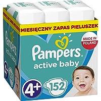 Pampers Active Baby Rozmiar 4+, 152 pieluszki, 10-15 kg, z 3 kanalikami chłonnymi