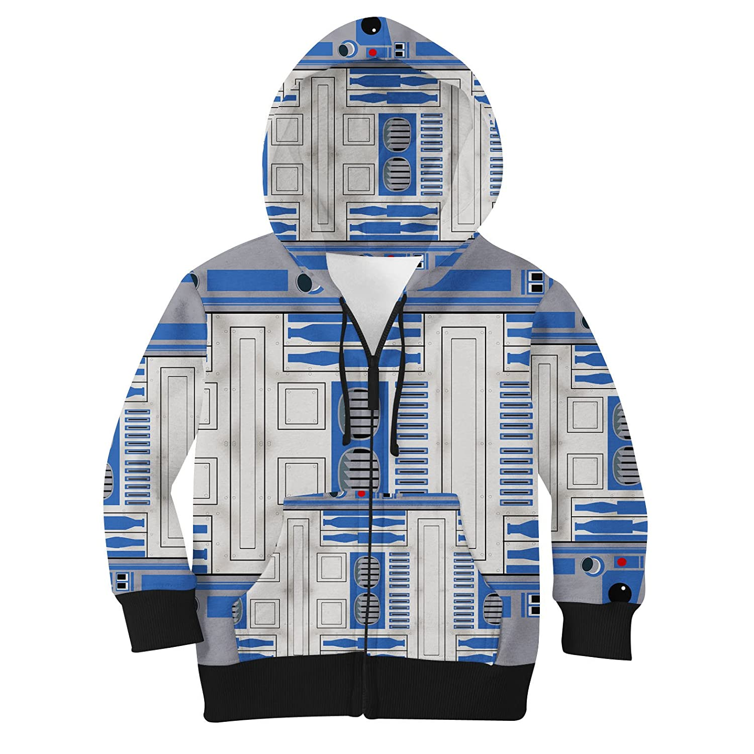 Little Blue Droid Kids Zip Up Hoodie Unisex