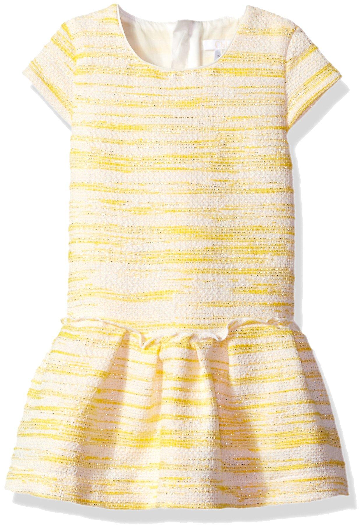 Chloe Baby Girls' Tweed Style Sleeveless Dress Infant, Banane, 18M