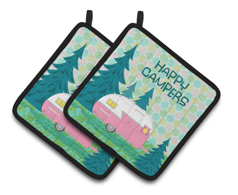 Carolines Treasures VHA3004PTHD Happy Campers Glamping Trailer Pair of Pot Holders Multicolor Caroline/'s Treasures VHA3004PTHD Happy Campers Glamping Trailer Pair of Pot Holders 7.5HX7.5W