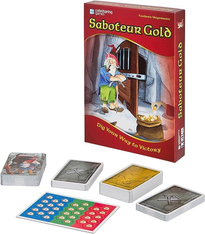 Saboteur Gold - A Unique Ltd Edition Board Game Featuring Both Saboteur 1 & 2 by Coiledspring Games: Amazon.es: Electrónica