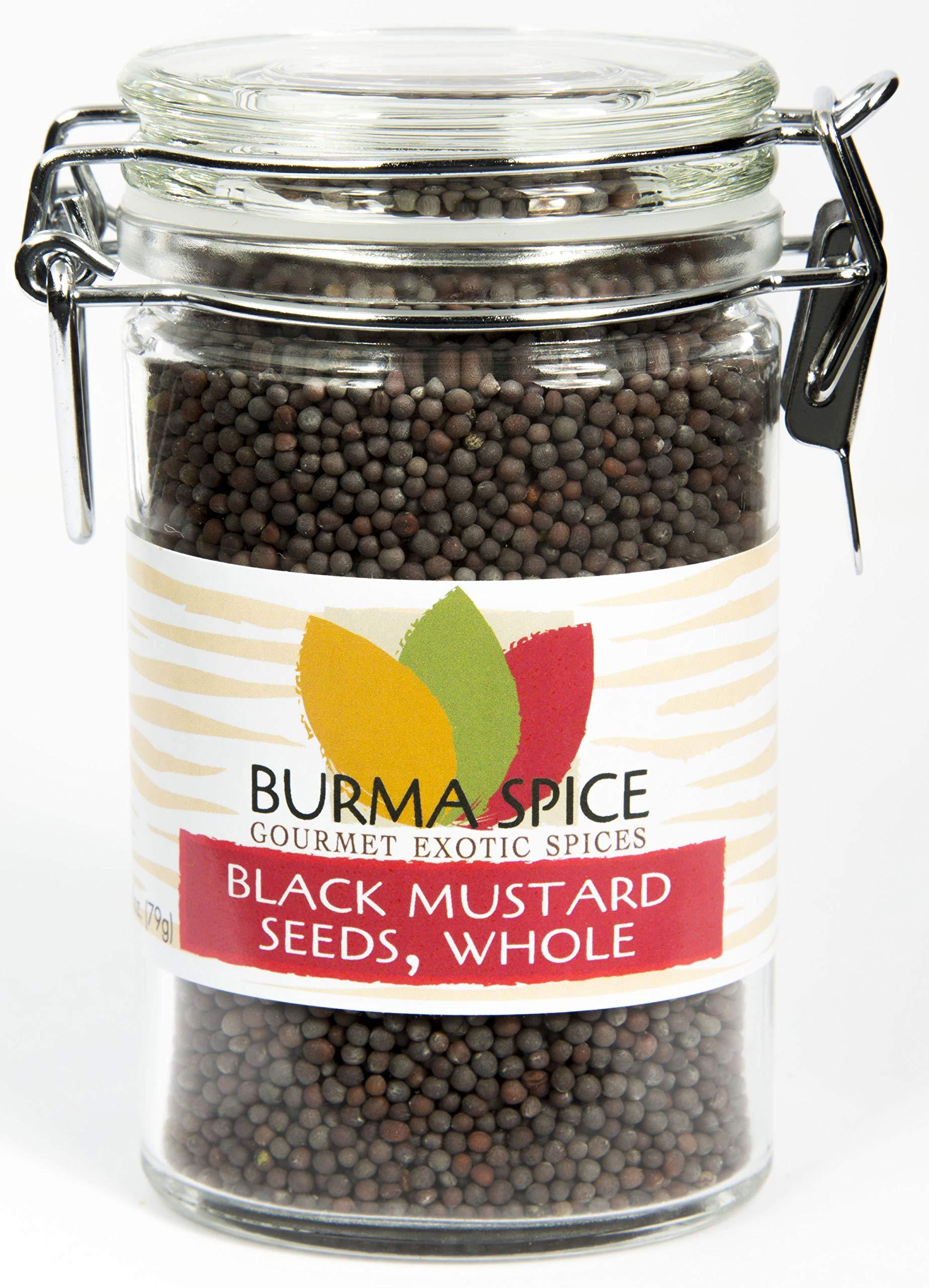 Black Mustard Seed : Whole Dried Seasoning Spice Herb : India (2.8oz.)