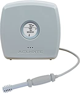 AcuRite 06066M Room Temperature and Humidity Monitor with Spot Check Temperature & Humidity Sensor