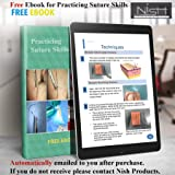 Complete Suture Practice Kit For Medical Dental Vet Training Students, Including Large Silicone Pad With Sutures And Suture Needles - Ebook For Training