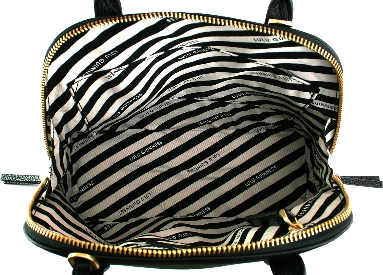 Lulu Guinness Bobbi Top Handle Bag Grainy Leather Handbag
