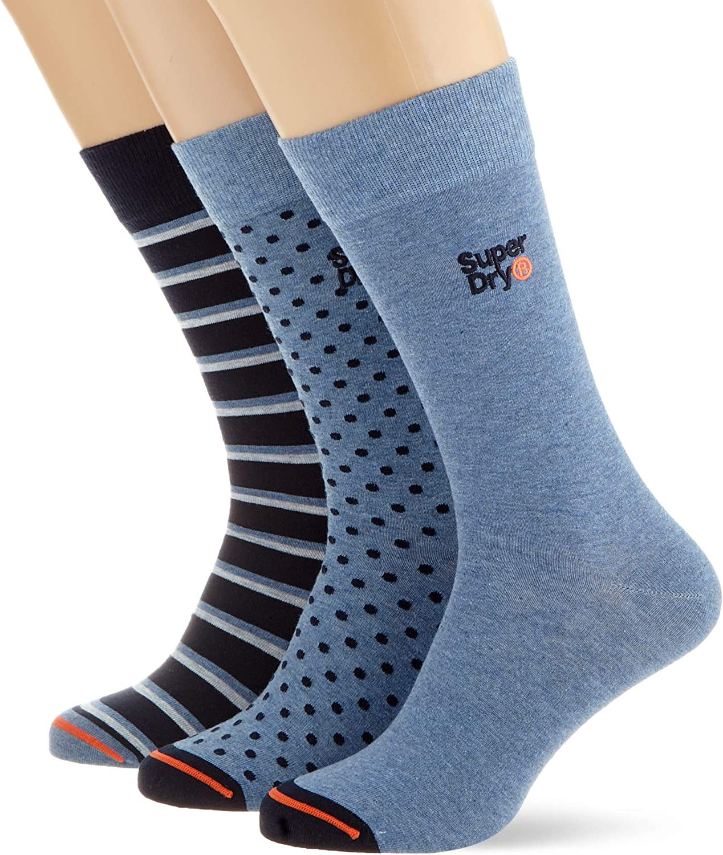 Superdry City Sock Triple Pack Calze Uomo