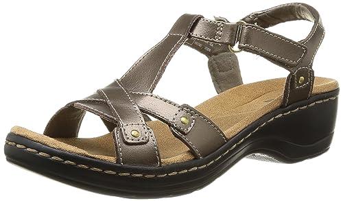 1e451c2ebc1 Clarks Women s Hayla Flute Pewter Metallic Leather Sneakers - 6 UK India  (39.5 EU