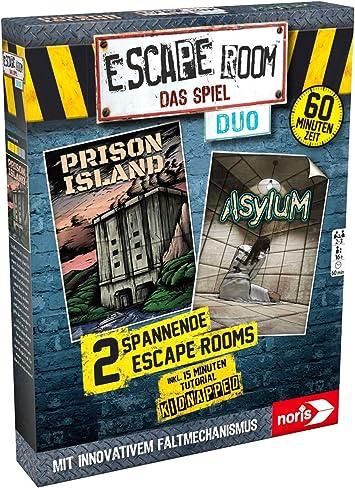 Noris 606101838 – Escape Room Duo – Juego Familiar y de Sociedad para Adultos, Incluye 2 Casos y Caso de Promo con Nuevo Mecanismo Plegable, a Partir de 16 años: Amazon.es: Juguetes y juegos