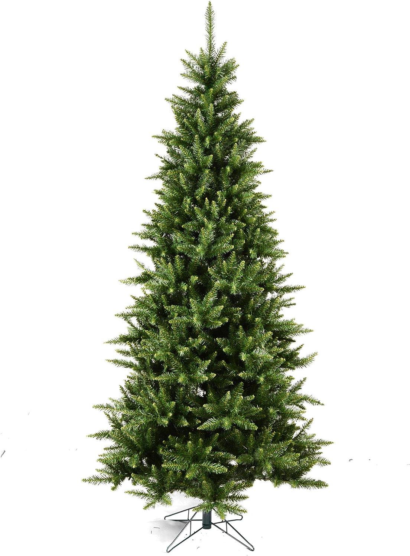 Amazon Com Vickerman 12 Camdon Fir Slim Artificial Christmas Tree Unlit Faux Slim Christmas Tree Seasonal Indoor Home Decor Home Kitchen
