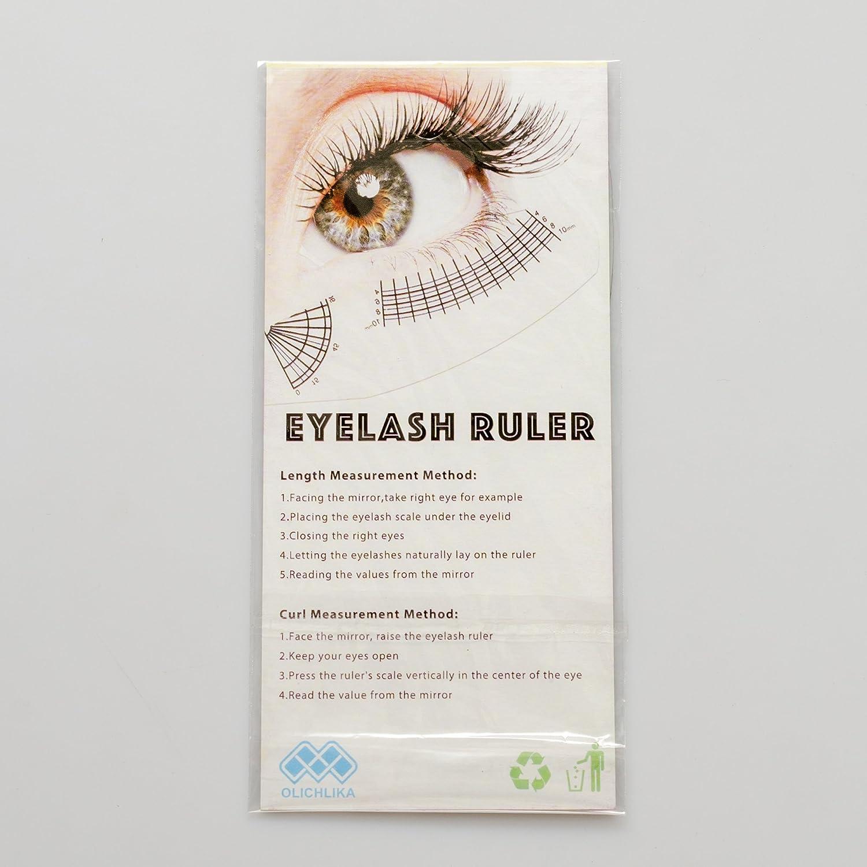 Amazon Eyelash Growth Chart Eyelash Extension Measurement