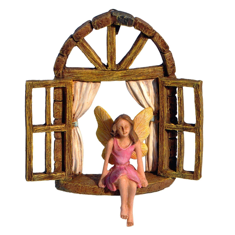 Fairy in Window Seat - Miniature Fairy Garden Accessory