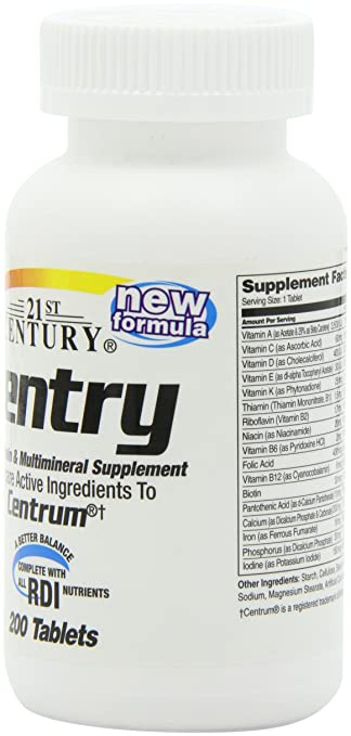 Amazon.com: 21st Century Sentry Tablets, 200 Count: Health & Personal Care