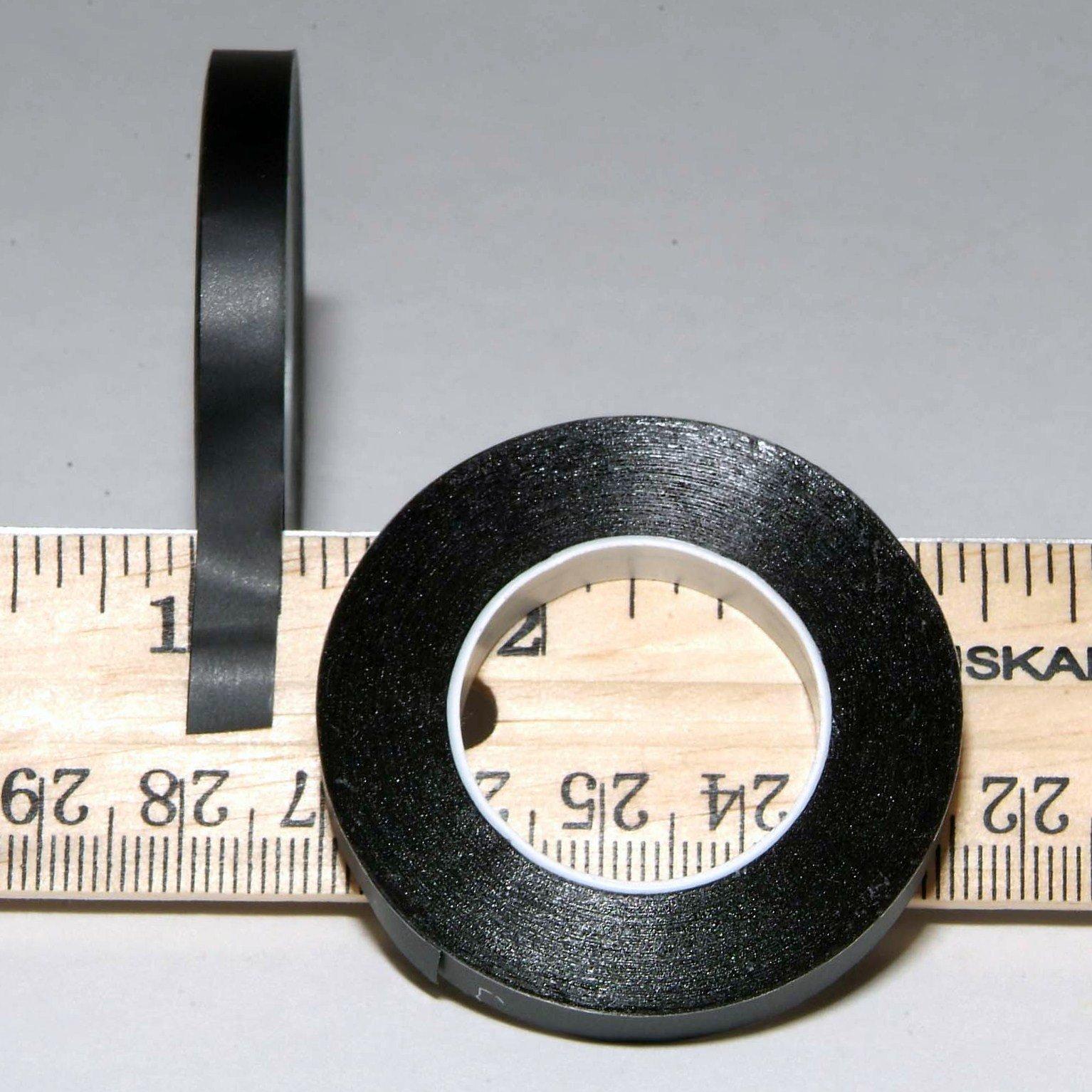 1/4'' Black Matte Tape 5 & 10 Pack (10 Pack) Chart Tape/Whiteboard Gridding Tape/Artist tape/Model hobby tape/Dry eraser board tape