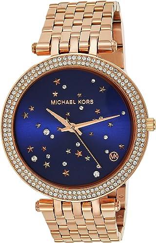 Michael Kors Women's Darci Quartz Watch with Stainless Steel Strap, Rose Gold, 13 (Model: MK3728)