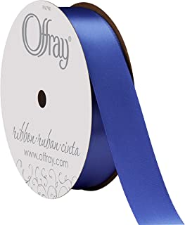 """product image for Offray Singleface Satin 7/8"""" 20 yd Royal Ribbon, 7/8 Inch x 20 Yard"""