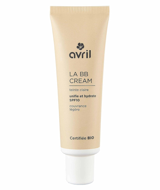 AVRIL - BB CREAM SPF10 - Chiaro - 5 in 1 - Omogeneizza l'Incarnato Naturale, Texture Soffice, Lunga Tenuta - Con Aloe Vera Bio Idratante - 30 ml Yumi Bio Shop