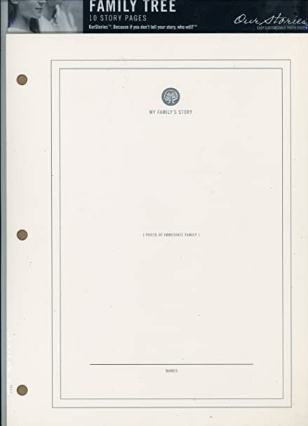 amazon com family tree 10 story photo pages 3 ring binder 8 1 2