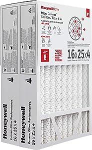 Honeywell Home MicroDefense AC Furnace Air Filter 16 x 25 x 4 MERV 8 (2 pk) - CF408H1625
