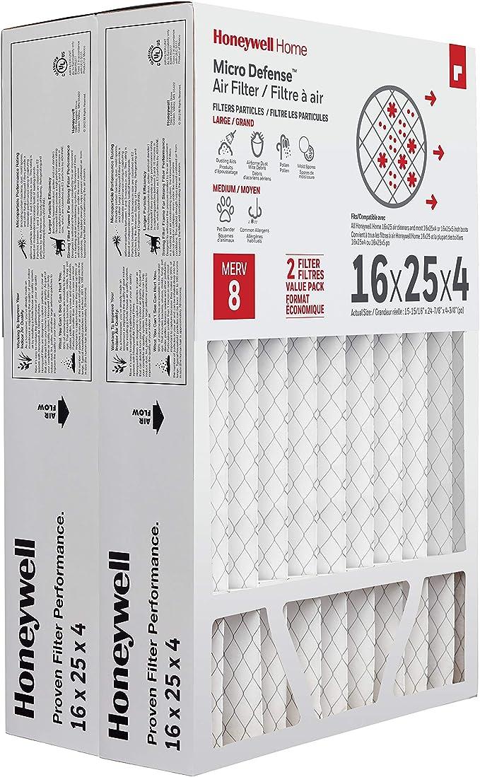 Nordic Pure 16x25x4M12-2 MERV 12 Pleated AC Furnace Air Filters 16x25x4 2 Pack Renewed