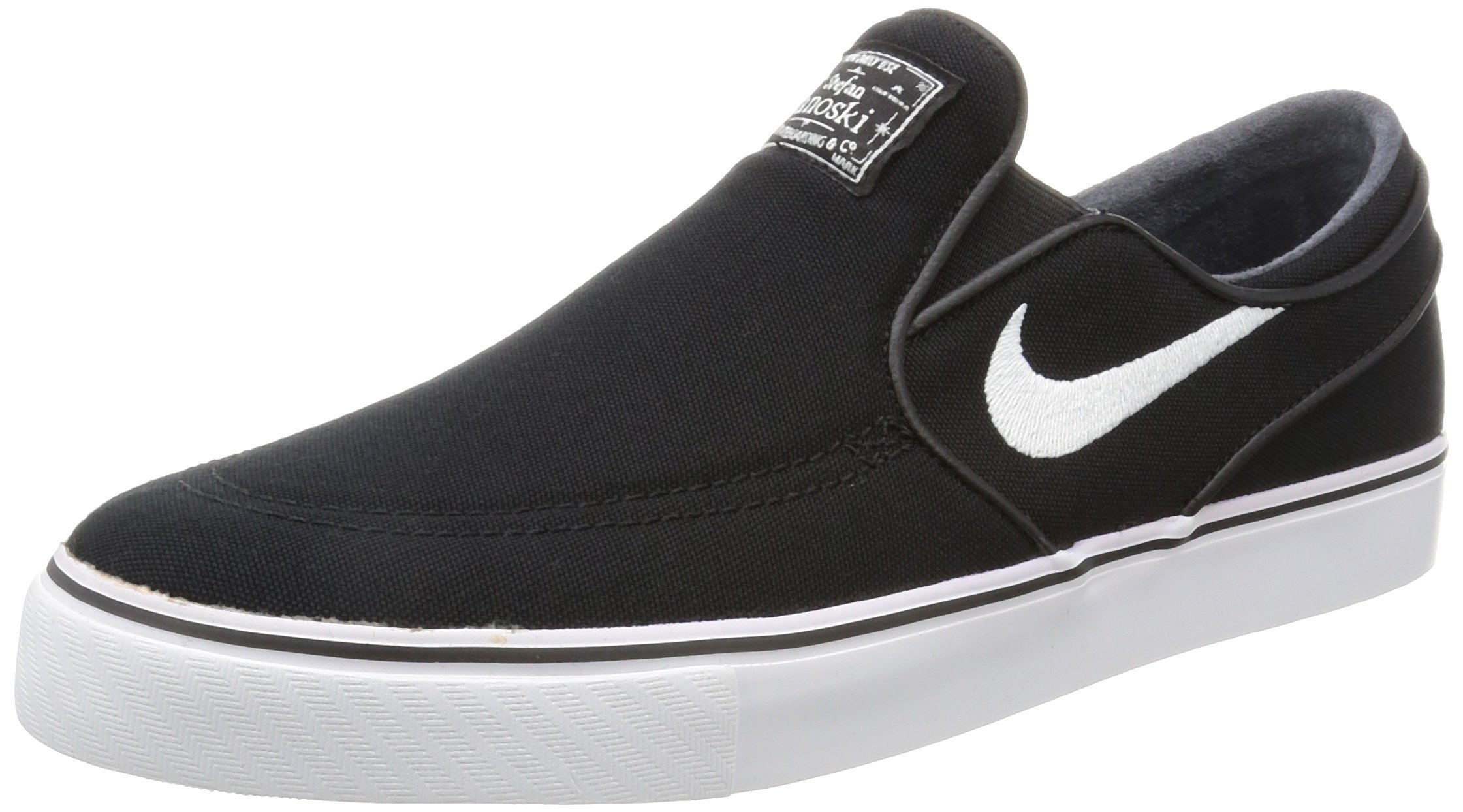 0addc4d9816b Galleon - Nike Zoom Stefan Janoski Slip Cnvs Mens Skateboarding-shoes  831749-010 9.5 - Black White-Black
