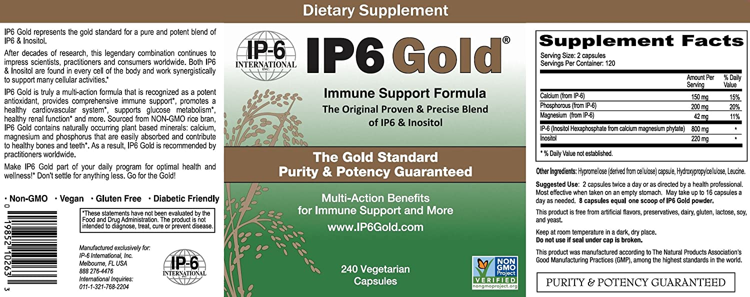 IP6 International IP6 Gold Immune Support Formula - 240 ct (Pack of 2)