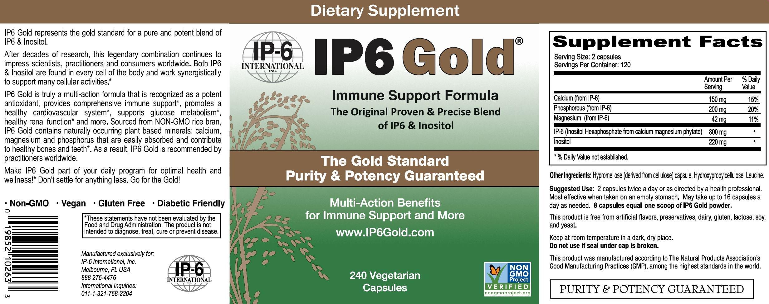 IP6 International IP6 Gold Immune Support Formula - 240 ct (Pack of 2)