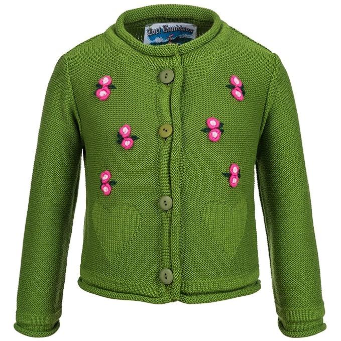 Chaqueta de punto para niños en verde de Turi rústico Mode ...
