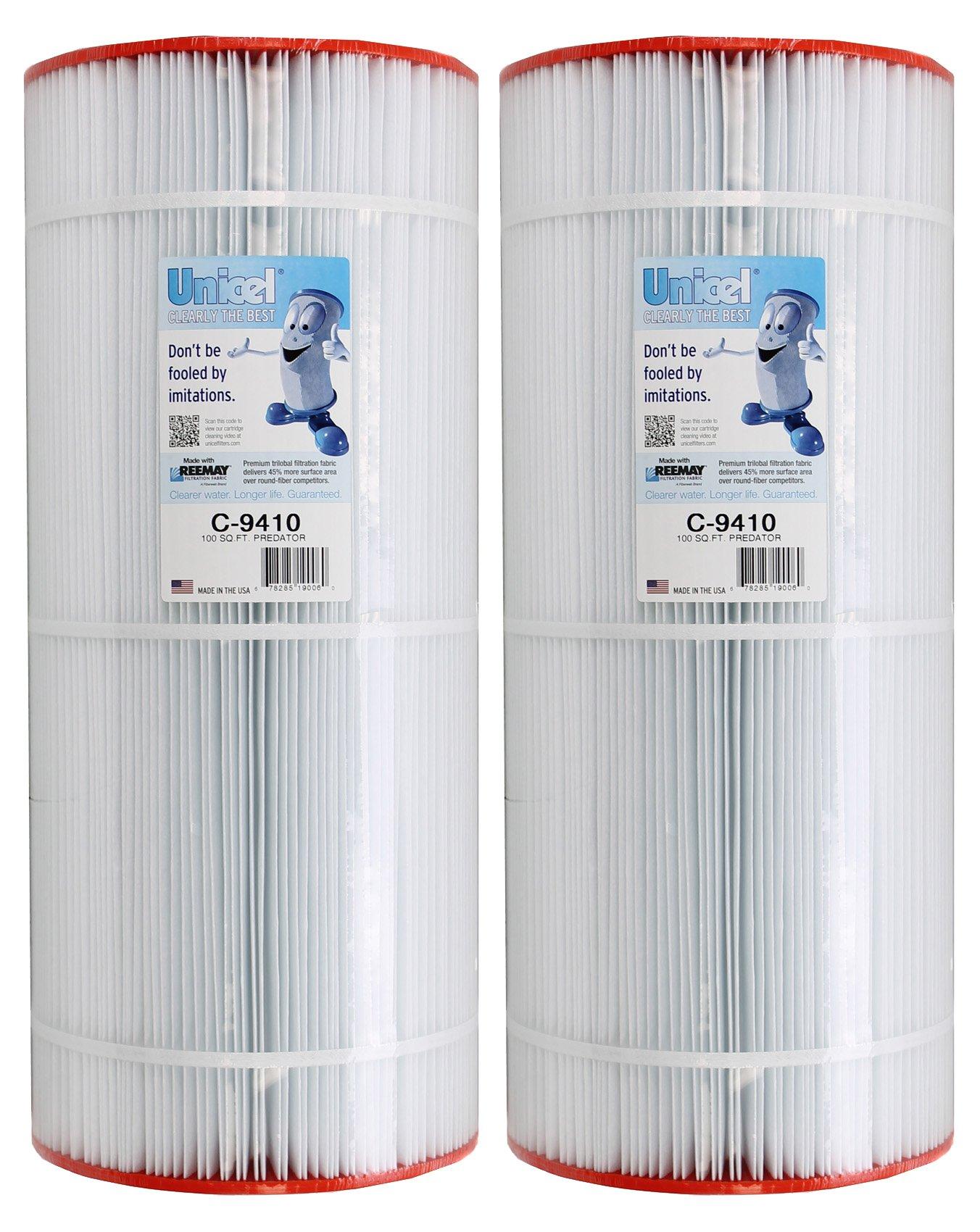 2) Unicel C-9410 100 Sq Ft Pentair Clean Clear Predator Cartridge Filter R173215