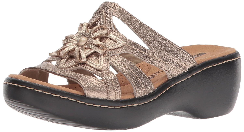 Pewter Met Clarks Womens Delana Venna Platform & Wedge Sandals