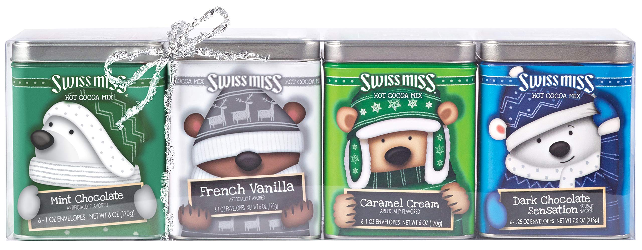 Swiss Miss Cocoa Bears With Hats Tin Collection, 6 oz