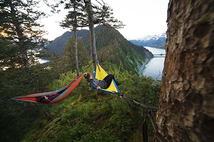 Grand Trunk Double Hammock with Carabiners and Hanging Kit