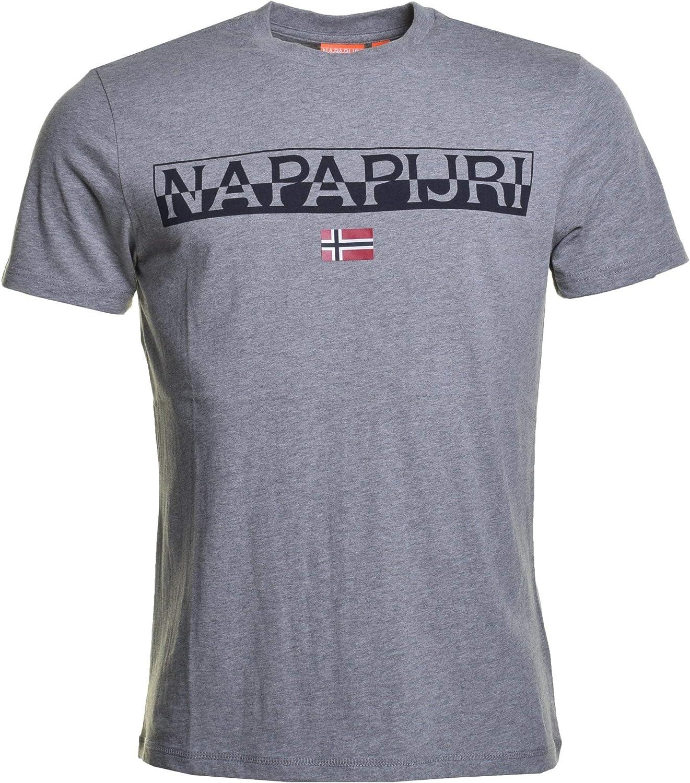 Napapijri Saras Solid - Camiseta para hombre, color gris, cód. NA4E5Q-160: Amazon.es: Ropa y accesorios