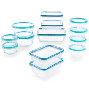 Snapware 1136615 Glass and Plastic Food Storage Set, 26 pieces