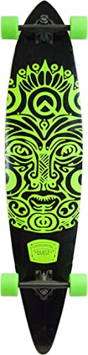 Quest Buena Karma Pintail Longboard Skateboard, Bright Jade Green, 44