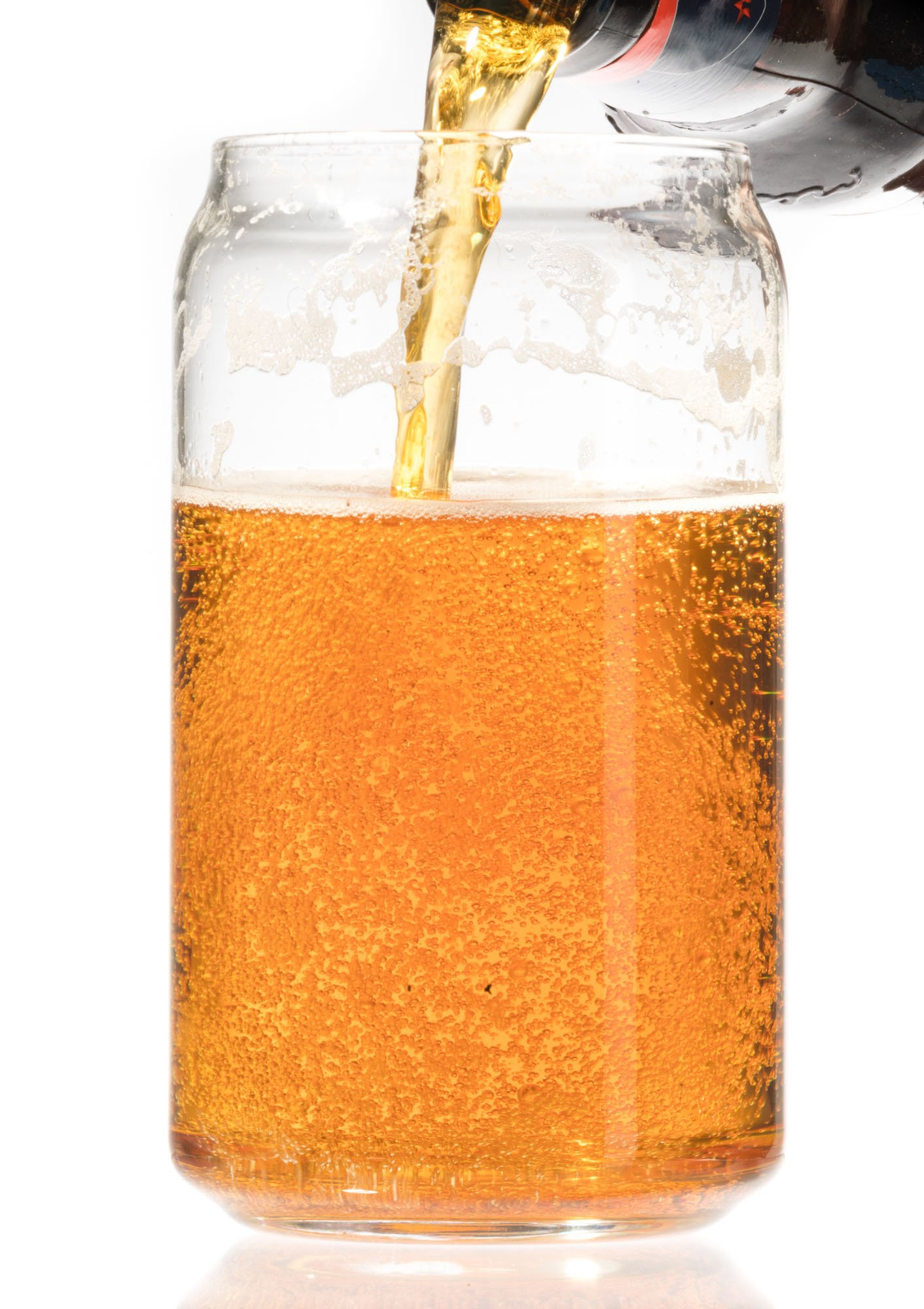Ecodesign Drinkware Libbey Beer Glass Can Shaped 16 oz - Pint Beer Glasses 4 PACK w/coasters by Ecodesign Drinkware (Image #4)