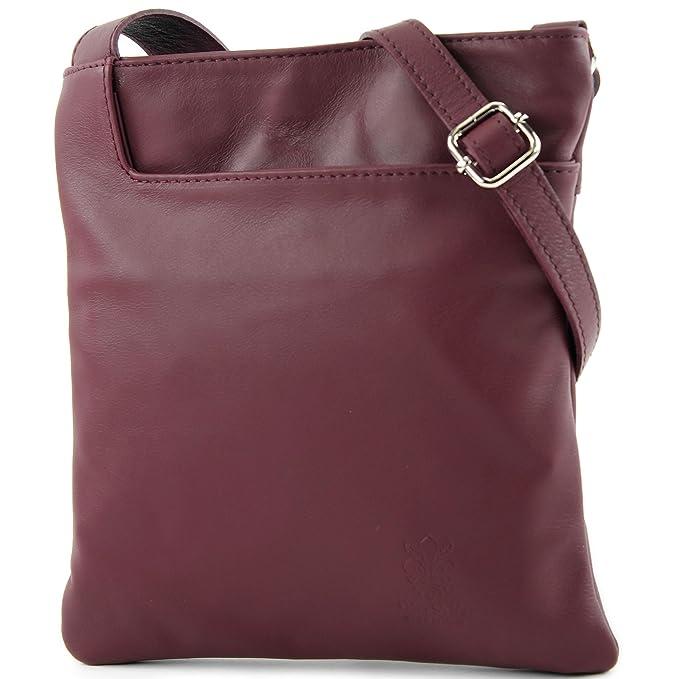 ital.Tasche Schultertasche Messenger Umhängetasche Damentasche Nappaleder T75