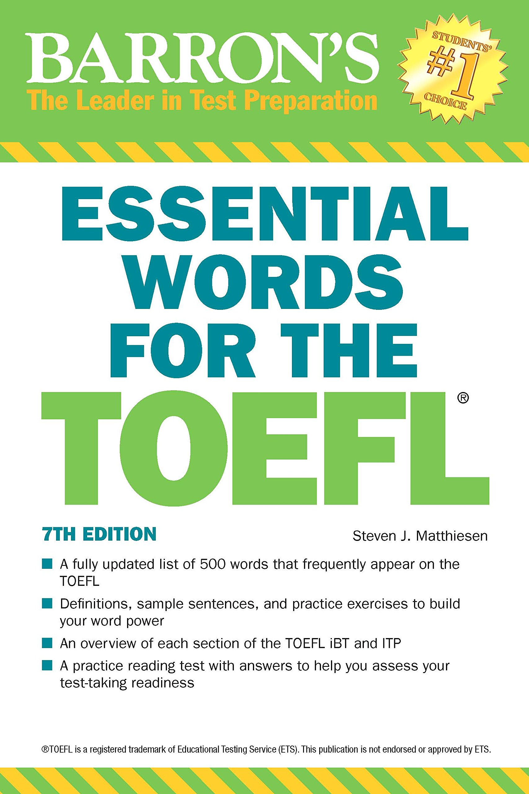 Essential Words for the TOEFL, 7th Edition by BARRONS
