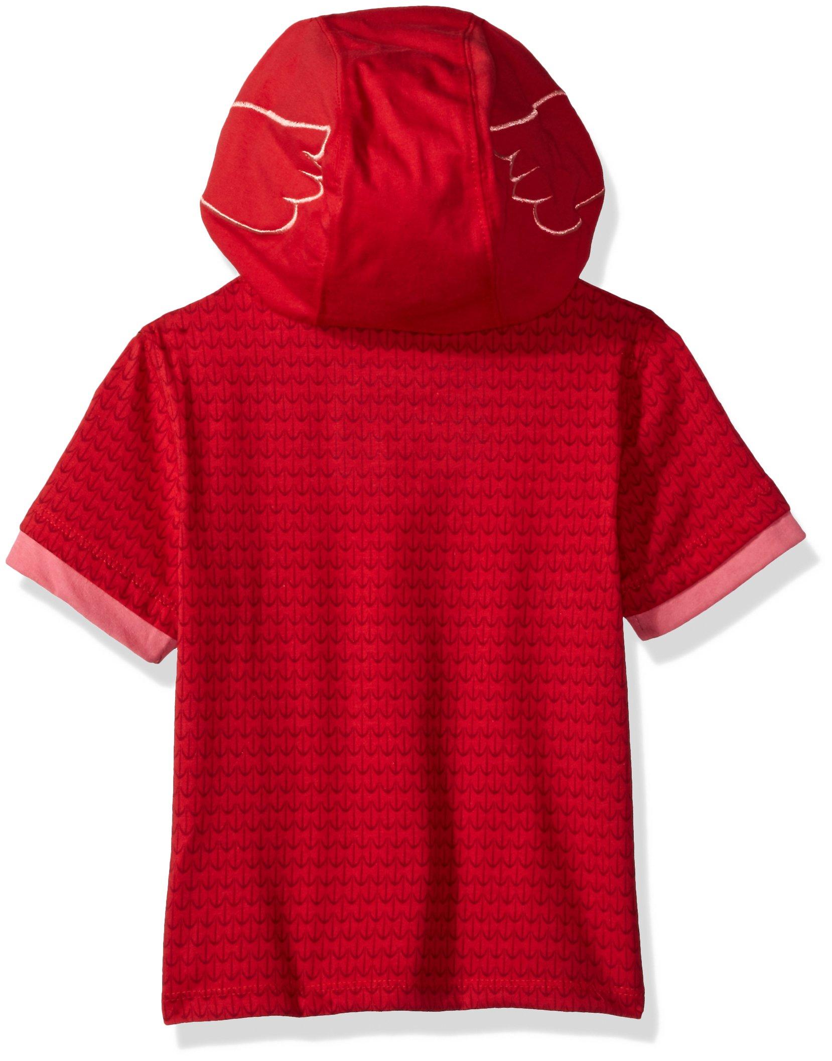 PJMASKS Girls' Tee Owlette Hoodie, Pink Short Sleeve, 4T by PJMASKS (Image #2)