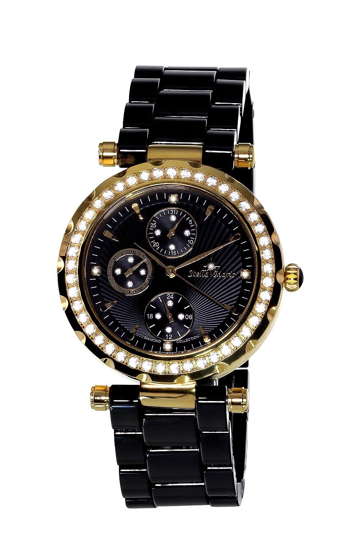 Stella Maris Damen-Armbanduhr Analog Quarz Premium Keramik Diamanten - STM15R8