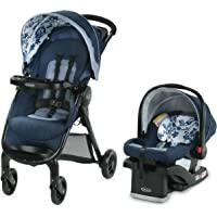 Graco FastAction SE Travel System | Includes FastAction SE Stroller and SnugRide 30 LX Infant Car Seat, Tessa