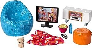 Barbie Movie Night & Accessories Playset