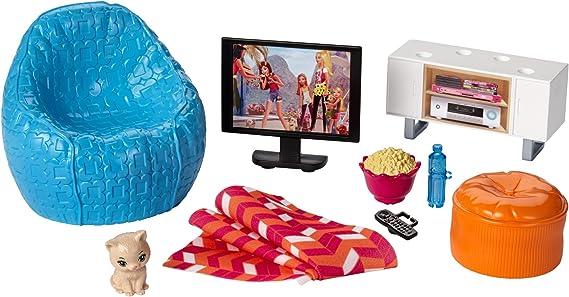 Barbie Muebles de la casa, TV y accesorios casa de muñecas (Mattel DVX46): Amazon.es: Juguetes y juegos