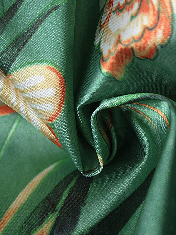 Festnight Cardigan Kimono De Gasa para Mujer Estampado Floral Boho asim/étrico Blusa Larga Suelta Prendas de Abrigo Ropa de Playa Bikini Cubrir