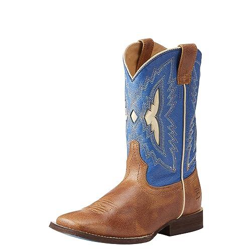 rico y magnífico zapatos para correr rendimiento superior ARIAT Boys 'Azul Relentless Parte Superior Notch Botas ...