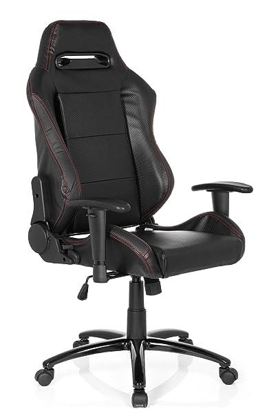 hjh OFFICE Silla Gaming/Silla de Oficina Silverstone II Piel sintética Negro: Amazon.es: Hogar