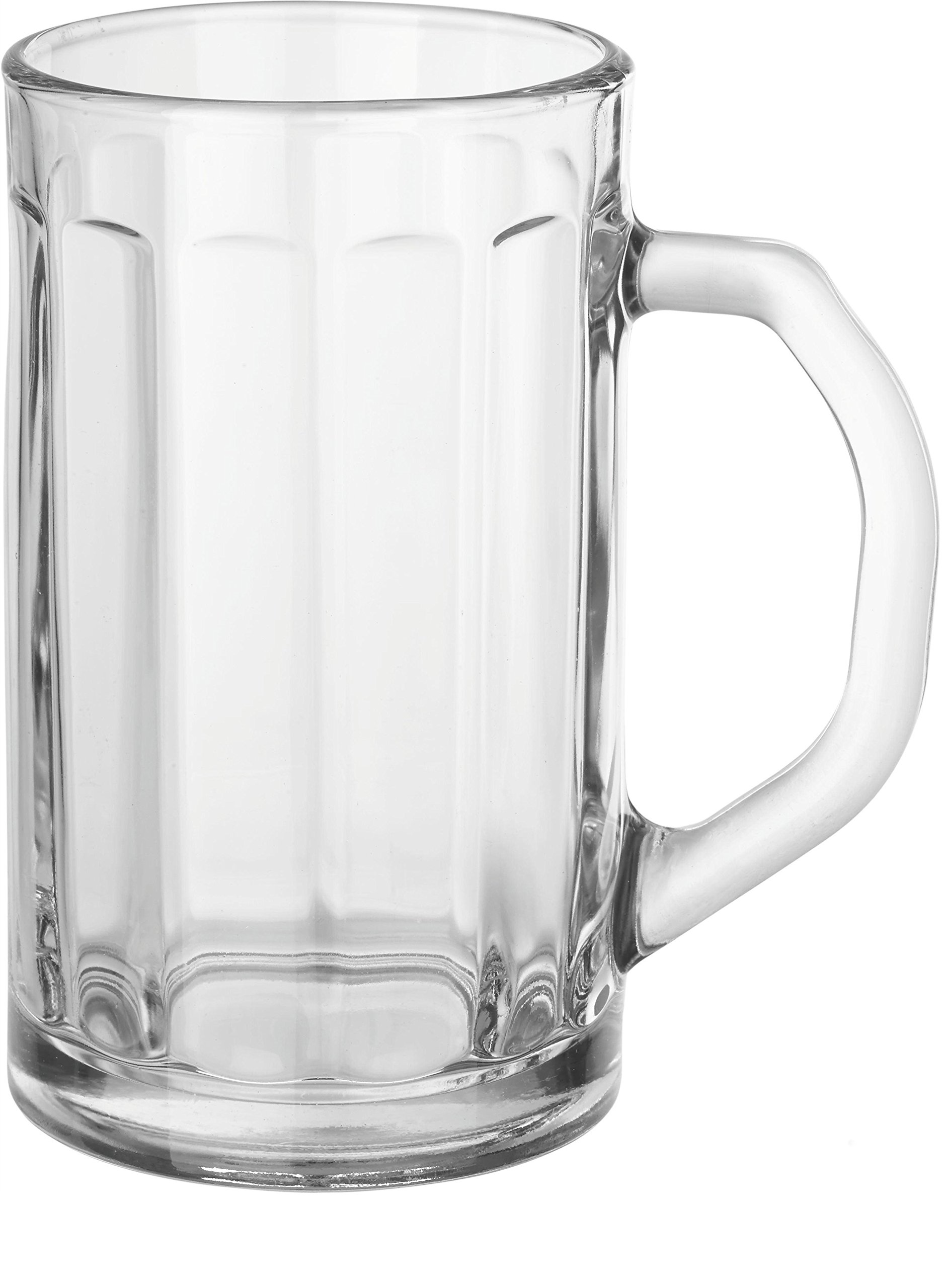 Circleware Downtown Pub Optic Glass Beer Mugs Beverage Drinking Glasses,