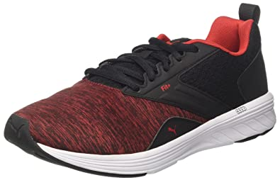 9c10aa33c68df3 Puma Unisex s Nrgy Comet Black-High Risk Red and Running Shoes-6 UK