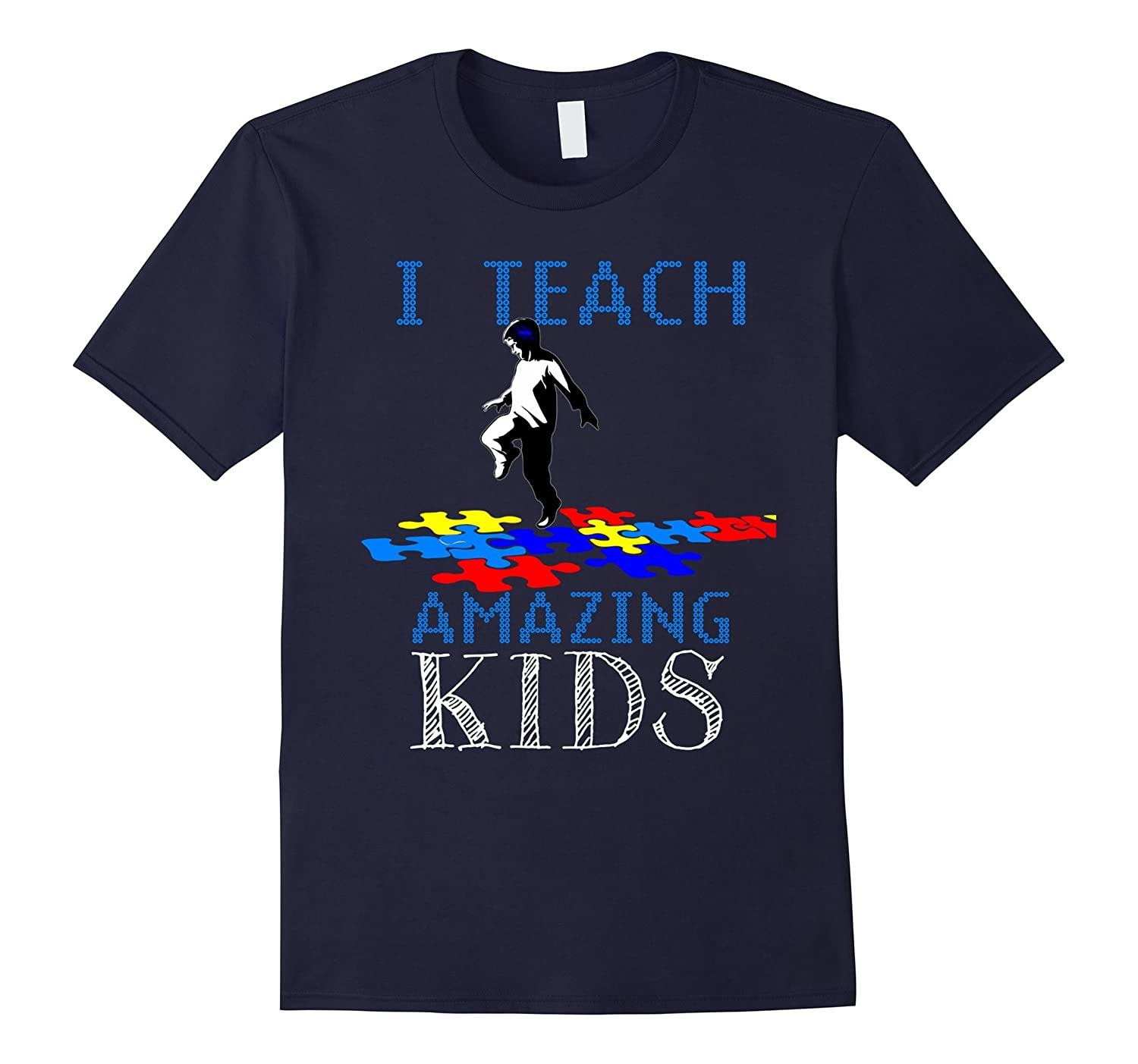 I Teach Amazing Kids T-Shirt for Men and Boys-CD