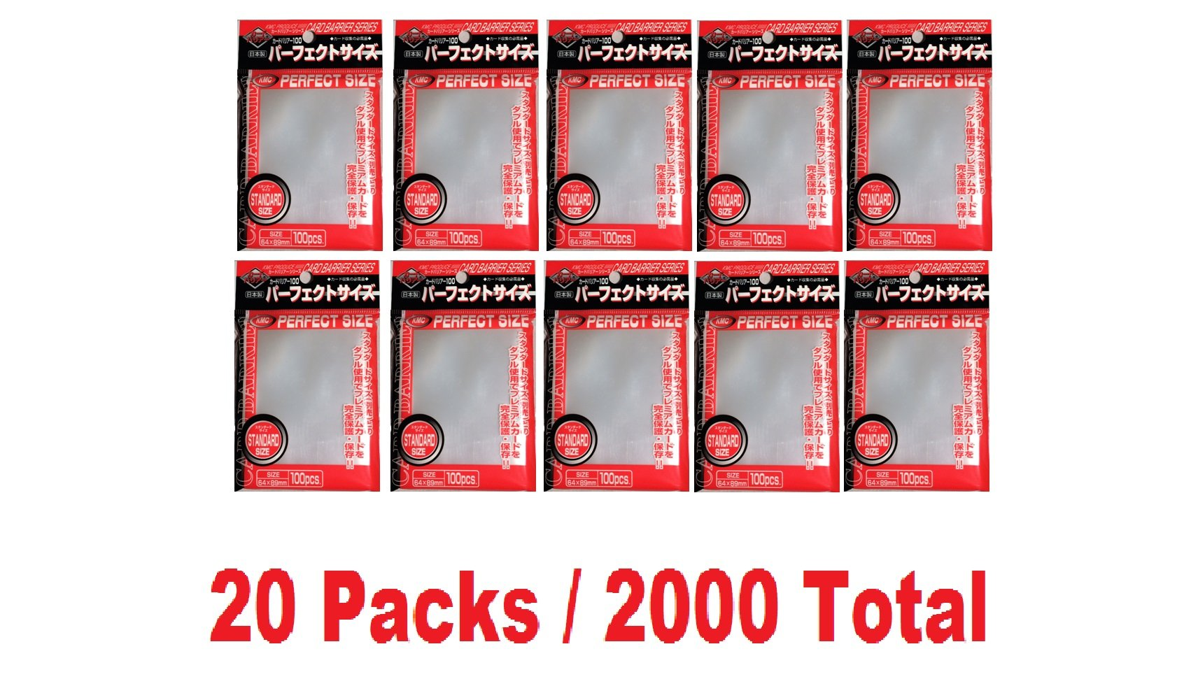 KMC 100 Card Barrier PERFECT SIZE (20 packs/Total 2000)