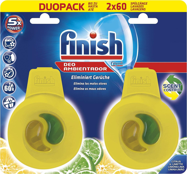Finish Ambientador para lavavajillas fragancia limón - 2 unidades ...